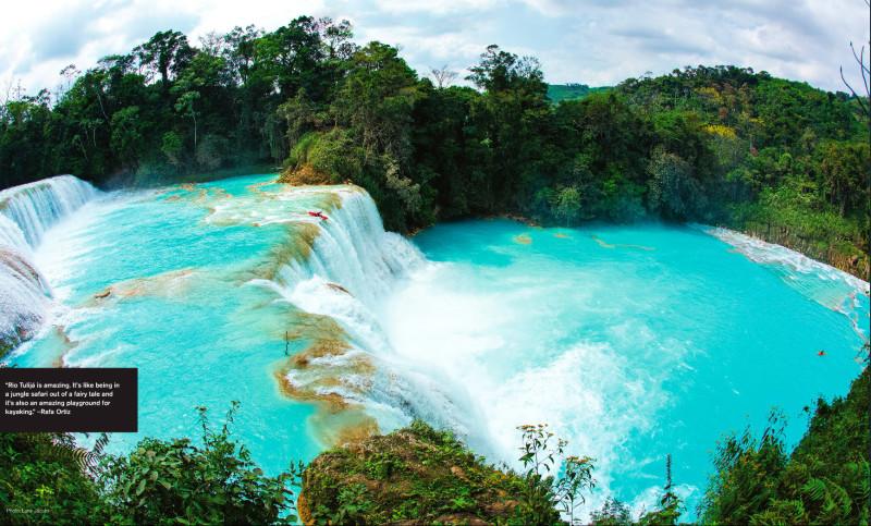 Kayaking en las cascadas de agua azul todo chiapas for Cascadas de agua
