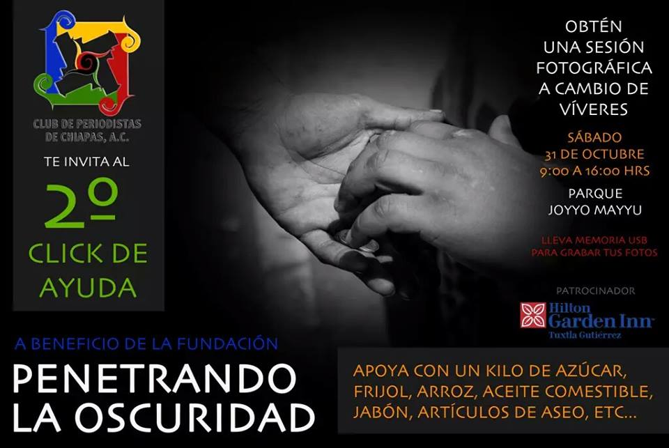 Club de periodístas de Chiapas, intercambia  víveres por sesión fotográfica