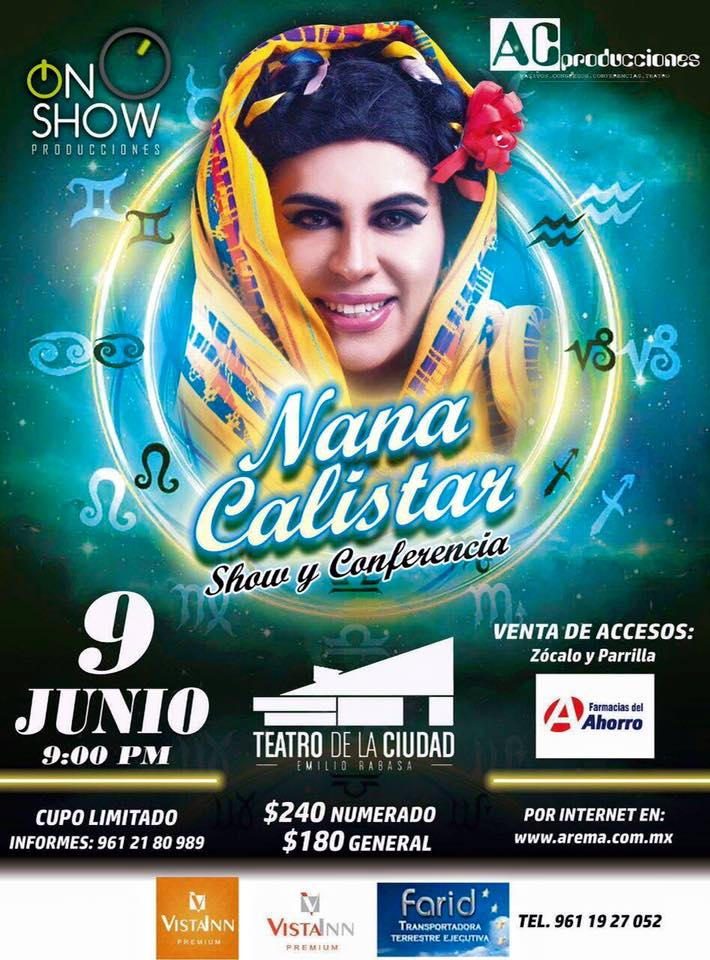 El humor negro de la Nana Calistar llega a Tuxtla Gutiérrez