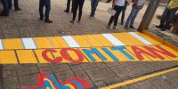 Pintan cruces peatonales en Comitán